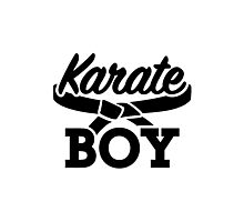 Karate boy Photographic Print