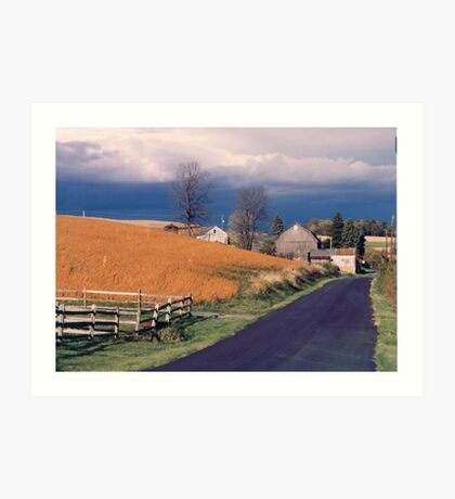 Pending Storm on the Farm Art Print