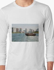 Wooden Barge in Tokyo Waters Long Sleeve T-Shirt