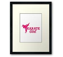 Karate girl Framed Print