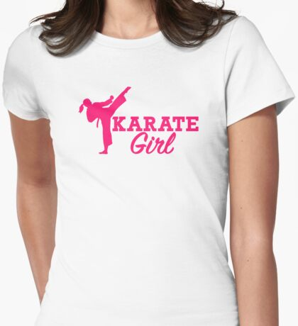 Karate girl Womens Fitted T-Shirt