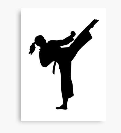Karate girl woman Canvas Print