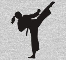 Karate girl woman Kids Tee