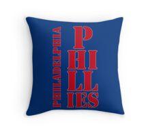 Philadelphia Phillies typography blue Throw Pillow