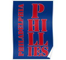 Philadelphia Phillies typography blue Poster