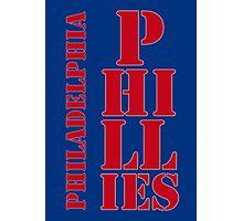 Philadelphia Phillies typography blue Photographic Print