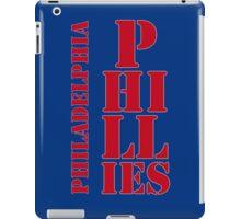 Philadelphia Phillies typography blue iPad Case/Skin