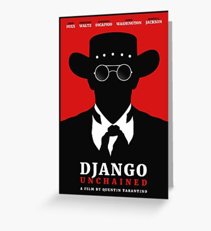 Django Unchained film poster Greeting Card