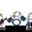 Unicorn Kawaii Punk Band by ValeriesGallery