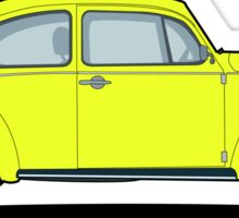 Beetle yellow Sticker