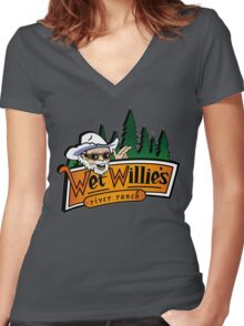 Welcome to Wet Willie´s Women's Fitted V-Neck T-Shirt