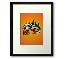 Welcome to Wet Willie´s Framed Print
