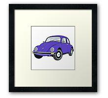Beetle purple Framed Print