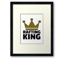 Rafting king Framed Print
