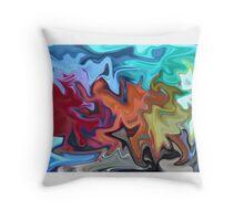 Color Dance  Throw Pillow