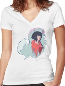 In The Rain  Women's Fitted V-Neck T-Shirt