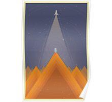 Spaceman - Orange Poster
