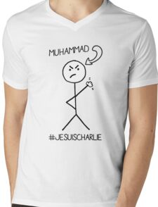 I drew Muhammad - #JeSuisCharlie Mens V-Neck T-Shirt