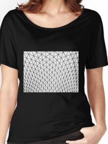Black and  White Grid Design Women's Relaxed Fit T-Shirt