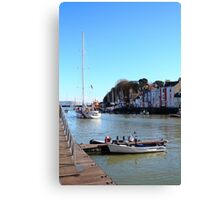 Leaving The Harbour, Weymouth Dorset Canvas Print