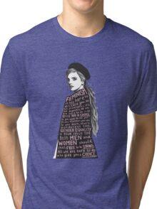 Emma Watson Feminism Design Tri-blend T-Shirt