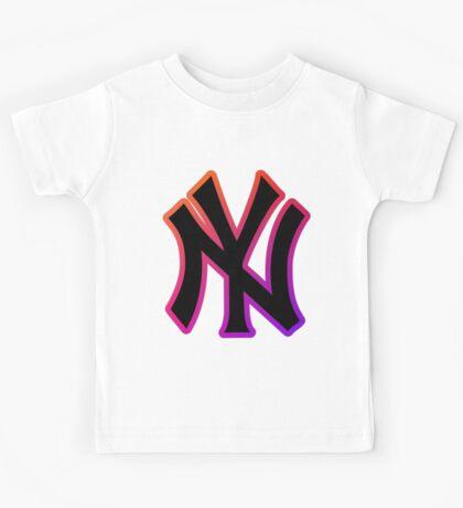 NY Fade Outline Kids Tee