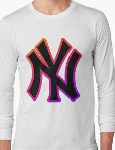 NY Fade Outline Long Sleeve T-Shirt