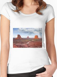 The Mittens and Merrick Butte at Sunset Women's Fitted Scoop T-Shirt