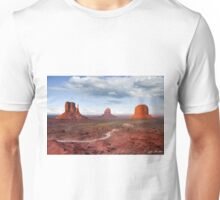 The Mittens and Merrick Butte at Sunset Unisex T-Shirt