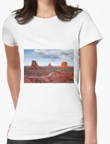 The Mittens and Merrick Butte at Sunset Womens Fitted T-Shirt