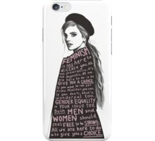 Emma Watson Feminism Design iPhone Case/Skin