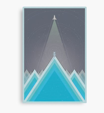 Space Man Blue  Canvas Print