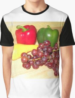Fruit and Veggie Collage One Graphic T-Shirt