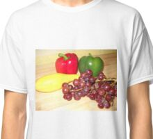 Fruit and Veggie Collage One Classic T-Shirt
