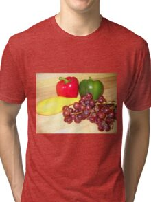 Fruit and Veggie Collage One Tri-blend T-Shirt