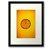 Juicy Lemon Framed Print