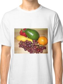 Fruit and Veggie Collage 2 Classic T-Shirt