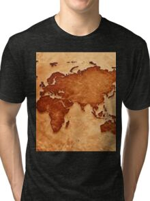 Old fashioned world map Tri-blend T-Shirt