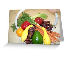 Fruit and Veggie Collage 3 Greeting Card