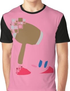 Kirby Pixel Silhouette  Graphic T-Shirt