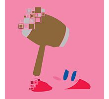 Kirby Pixel Silhouette  Photographic Print