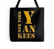 New York Yankees typography Tote Bag