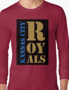 Kansas City Royals typography Long Sleeve T-Shirt