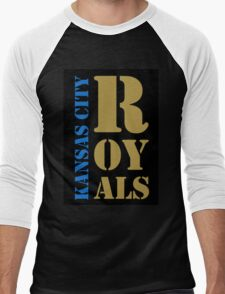 Kansas City Royals typography Men's Baseball ¾ T-Shirt