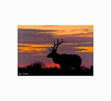 Bull Tule Elk Silhouetted at Sunset Unisex T-Shirt