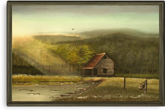 """""""Seasoned"""" ... with a canvas and framed look, for prints and products by © Bob Hall"""