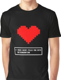 Undertale - This Shirt Fills You With Determination Graphic T-Shirt