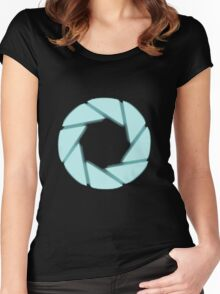 Portal Aperture Women's Fitted Scoop T-Shirt