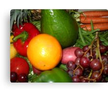 Fruit and Vegetable Collage 6 Canvas Print