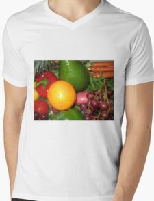 Fruit and Vegetable Collage 6 Mens V-Neck T-Shirt